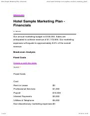 Hotel Sample Marketing Plan - Financials.pdf