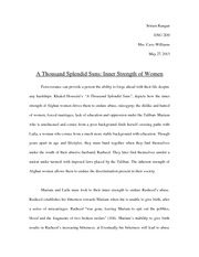 a thousand splendid suns isp essay sriramrangan engd mrs  5 pages a thousand splendid suns isp essay