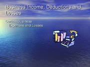 2011.8 Deductions and Losses