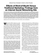 Journal of Marketing - Effects of Word-of-Mouth Versus Traditional Marketing