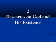 2 Descartes on God and His Existence