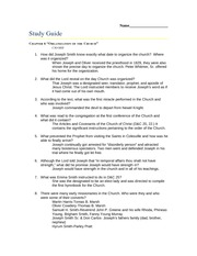 Organization of the Church Study Guide