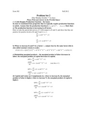 Problem Set 2 302 Solution 2012WT1