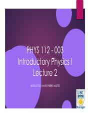 PHYS112-Lecture 2-Connect