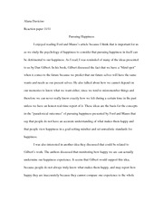 Pursuit of happiness essay