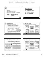 IAF Topic 1 - Lecture Notes (Print Version)