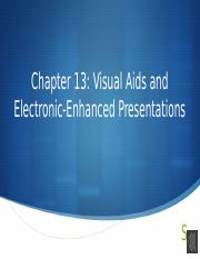 Chapter 13 Visual Aids with audio
