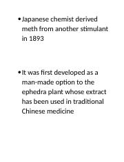 lab 13 docx - Japanese chemist derived meth from another