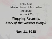 Lecture 23_Story of the Western Wing 2