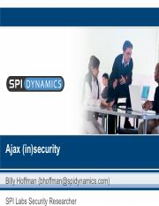 SE445-Chapter4-WebApplicationsAndSecurityVulnerablity_AjaxinSecurity