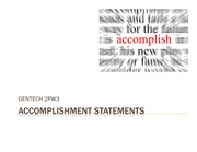 Lecture -Accomplishment Statements