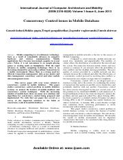 5. Concurrency Control issues in Mobile Database.pdf