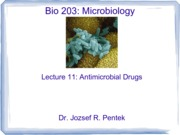Lecture11_AntimicrobialDrugs