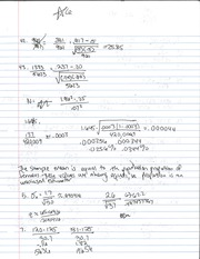 Sample Mean Notes