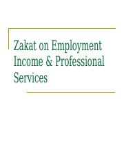 Zakat on Income from Employment and Professional Services[1].ppt