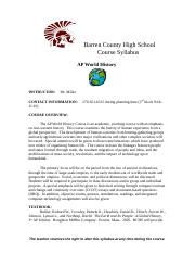 BCHS Course Syllabus-AP World History Updated Version II Jody Miller-0.doc