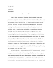 BUS 216 - Business Ethics - Midterm Essay Final Draft Assignment
