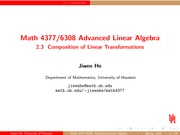 Lecture 2.3 on Advanced Linear Algebra
