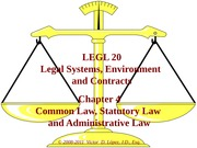 LEGL 20 - Ch 04 - Common Law, Statutory Law and Administrative Law