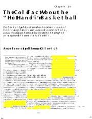 Tversky Gilovich 1989 The cold facts about the hot hand in basketball