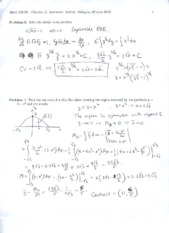 Exam 1 Solutions 2010 Part 4