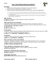 Molecular Genetics Test Review May 2013.doc