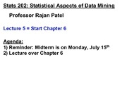 Stats 202 - Lecture 5