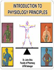 Lecture 1- Introduction To Physiological Principles 080916