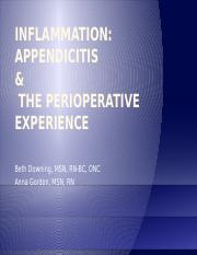 IN CLASS - Inflammation, Appendicitis Powerpoint