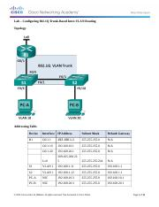 5.1.3.7 Lab - Configuring 802.1Q Trunk-Based Inter-VLAN Routing_rkossley.docx