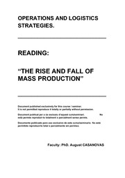0105 LECT THE RISE AND FALL OF MASS PRODUCTION 10 P