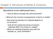 Chapter 3-Crystal structures crystallography basics and metallic structures