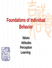 Chapter02 Foundations of Individual Behavior