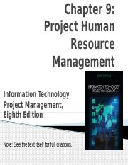 9- Project Human Resource Management