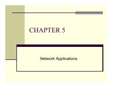 Chapter 5 - Network Applications