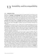 Chapter 13 Instability and Incompatibility