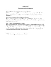 Communicationsassignment