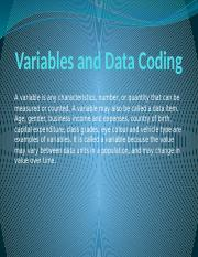 1-Variables and Data Coding