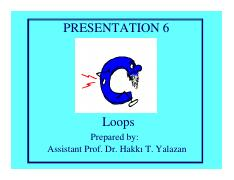 Introduction to Programming Presentation 6