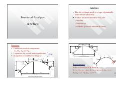 Arch2017_ppt pdf - Arches The three-hinge arch is a type of