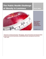 Obesity in Louisiana Policy Brief