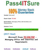 New Pass4itsure Microsoft-70-346 PDF Exam.pdf
