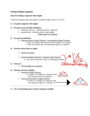 Steps to Proving Triangles Congruent - Copy