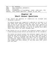 Chapter 10 - Short Answer Questions - Omar Villanueva ( A00108737 )