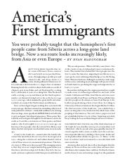 1 - America's First Immigrants(2)