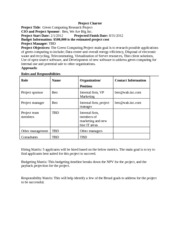 case study 3 green computing research project part 5 Free research that covers project title the title of the project is green computing research project this paper presents the project charter hence it is based on the first part.