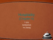 Hospitality Lecture Slides