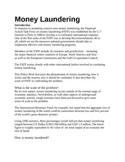 FATF - Money Laundering