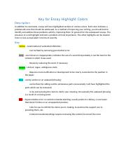 Essay Color Highlight Key.docx