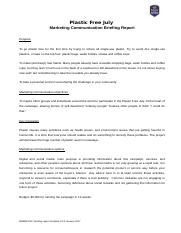 Marketing Communication Briefing Report Template V2.0 January 17-2